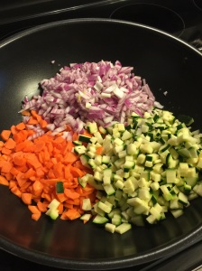Veggies ready to saute